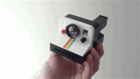 this amazing lego instant camera even pops out lego