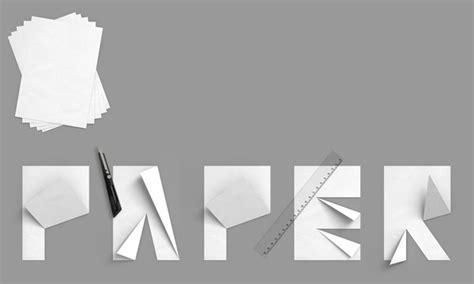 Folded Paper Font - folded paper font