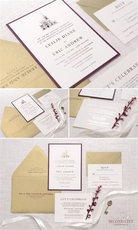 17 Best images about Chicago Wedding Invitations on