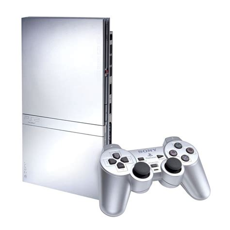 console ps2 sony playstation 2 slim console silver pre owned the