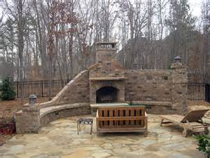 Stone Patio With Fireplace by Brick Fireplace With Stone Patio