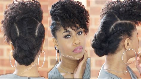 natural hair after five styles step by step guide to bang n twisted knot hairstyle