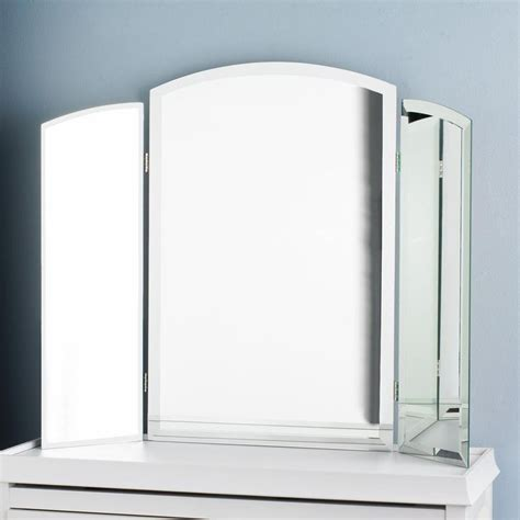 Tri Fold Makeup Vanity Mirror by Tri Fold Vanity Beveled Mirror