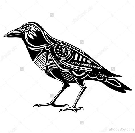 crow tattoo design bird tattoos designs pictures page 96