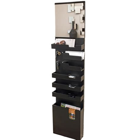 Entryway Mail Organizer entryway mail and key wall organizer black in entryway storage