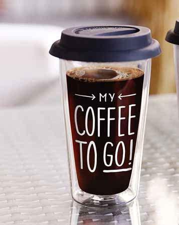 coffee   glas thermobecher cl tassen mit