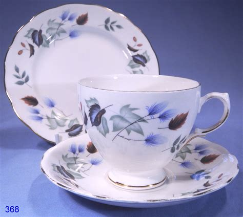 colclough linden vintage bone china trio sold collectable china