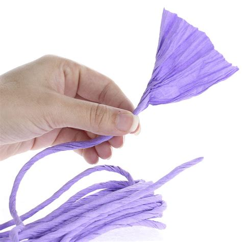Twisted Craft Paper - lavender paper twist ribbon and trims craft supplies