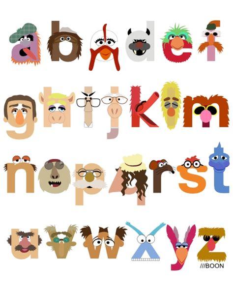 Letter Character Names Alfabeto Divertido De Los Muppets Oh My Alfabetos