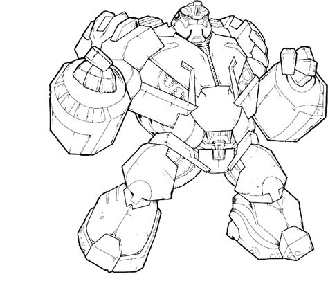 Transformers 5 Coloring Pages by Transformer Turns Into A Big And Strong Coloring Page