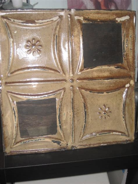 4x4 Ceiling Tiles by Antique Ceiling Tile Frame With Dual 4x4 By