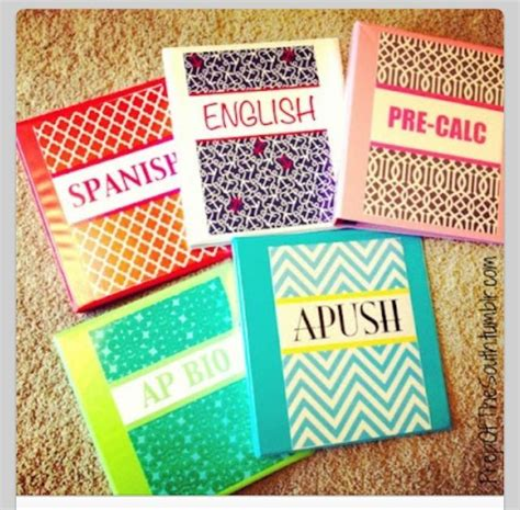 Decorating Notebooks For School by Cool Ways To Decorate Your Binders For School School