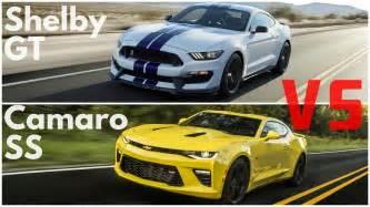 2016 chevrolet camaro ss vs ford mustang gt shelby