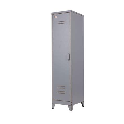 armoire metal but armoire 1 porte vintage gris maxim par drawer fr