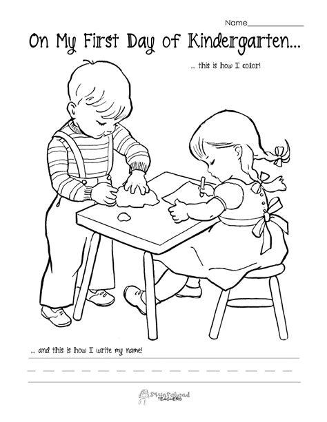 preschool coloring pages first day of school 12 best images of first day of kindergarten worksheets