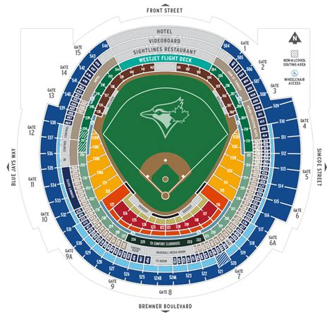 rogers centre seating chart seating map toronto blue jays