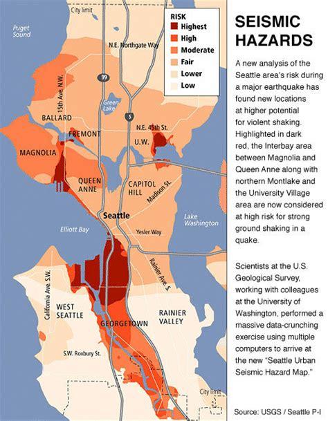 seattle hazard map earthquake hazard maps sound seismic