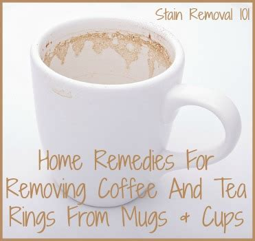how to remove coffee tea rings from mugs cups