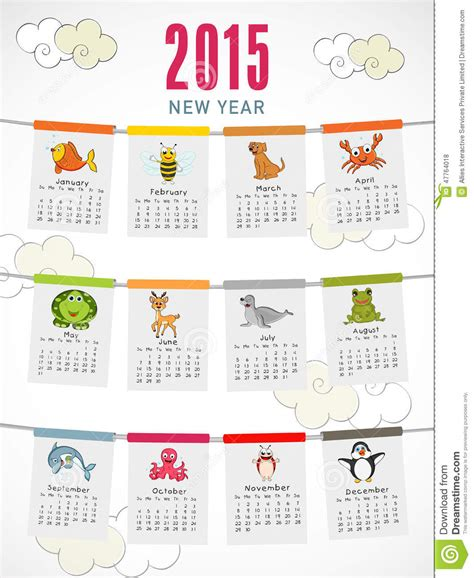 new year animal list happy new year 2015 celebration with yearly calendar