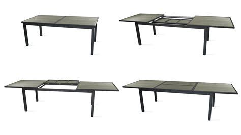 table jardin aluminium extensible 1706 salon table de jardin extensible 10 places