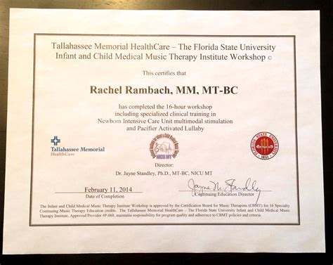 therapy certification therapy in the nicu listen learn