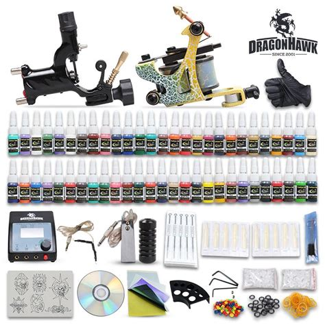 tattoo gun starter kit beginner cheap complete kit 2 guns machines