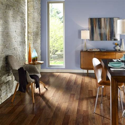 This Burmese Rosewood floor pairs great with the light