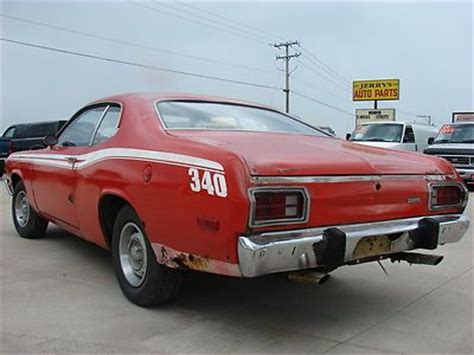 buy used 1973 plymouth duster factory 340 4 speed (project