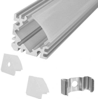 Diskon Housing Rigid Aluminium Etalase 45 Degree calrad 92 312 l e d triangle aluminum housing 45 degree angle 4 ft suitable for any