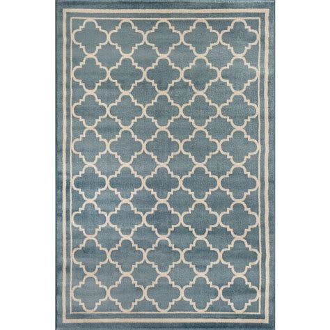 Blue Contemporary Area Rug World Rug Gallery Trellis Contemporary Modern Design Blue 7 Ft 10 In X 10 Ft 2 In Indoor