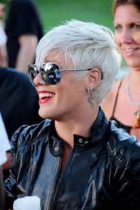 front and back pictures of hairstyles for gray hair celebrities flaunting drop dead gorgeous pixie hairstyles