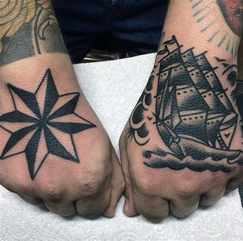 nautical star tattoos for men 80 nautical designs for manly ink ideas