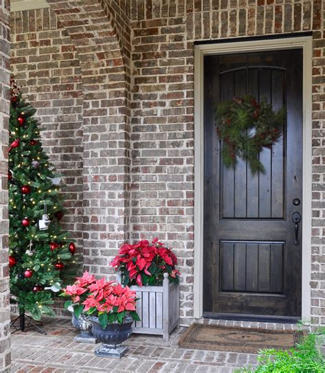 poinsettia on porch a festive porch decor gold designs