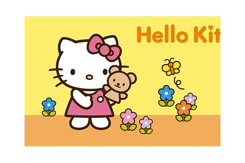 download background laptop hello kitty