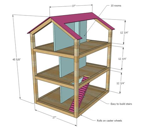 plan doll house dollhouse plans woodworking general freepdf