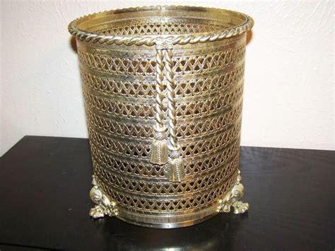 Decorative Waste Baskets by Regency Decorative Filigree Waste Basket Metal
