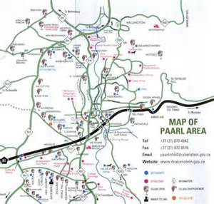 map of and surrounding areas paarl maps showme paarl