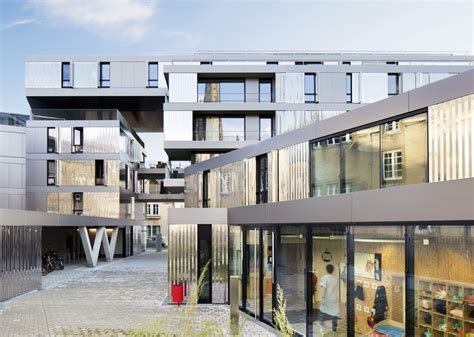 si鑒e social nantes 56 apartments in nantes phd architectes archdaily