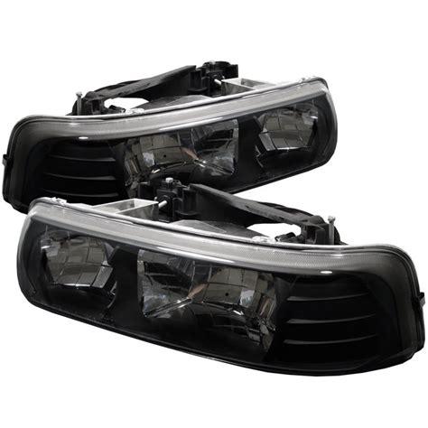 1999 2002 chevy silverado 1500 2500 black headlights