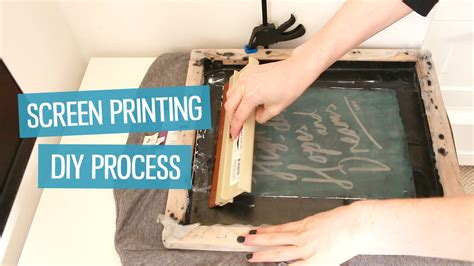 how to screen print t shirts at home diy method