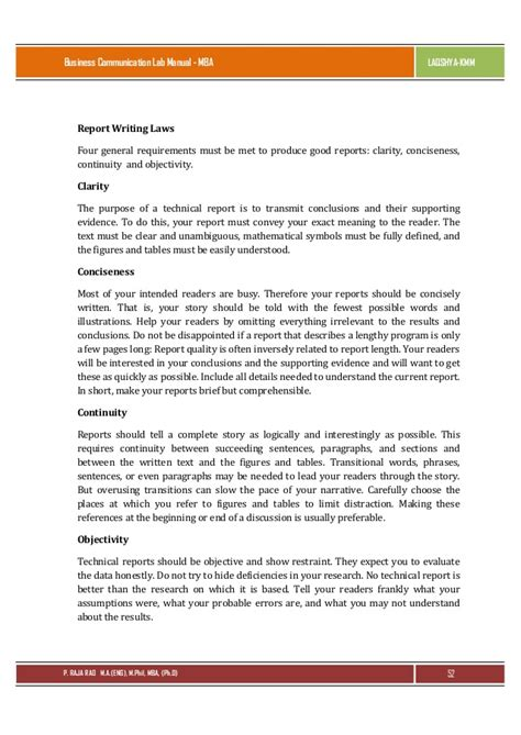 a business report sle sle of report writing in business communication 28