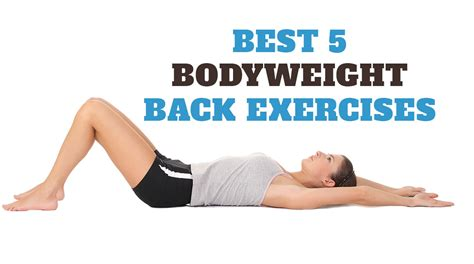 best 5 bodyweight back exercises workouts for home