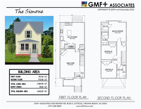 Skinny Houses Floor Plans gmfplus architects narrow lots the simone house plan