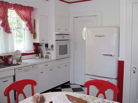 david creates a sunny red and white vintage kitchen for david creates a sunny red and white vintage kitchen for