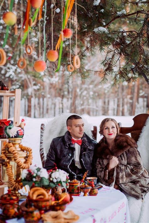 Russian winter wedding. Decoration for Photosession
