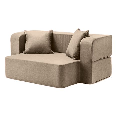 fold out futon bed latte wool feel poppy easy fold out flip sofa bed foam
