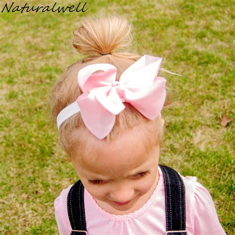 Ribbon Baby Headband naturalwell kid ribbon bow headbands baby flower headband photo prop newborns