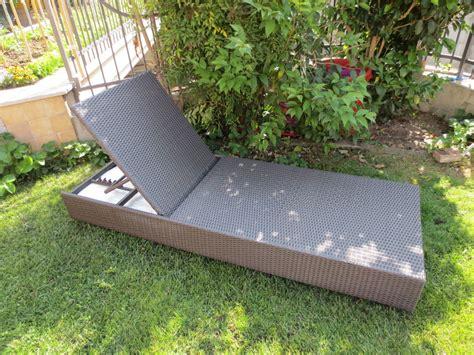 lettini da giardino lettino da giardino piscina in polyrattan marrone mod