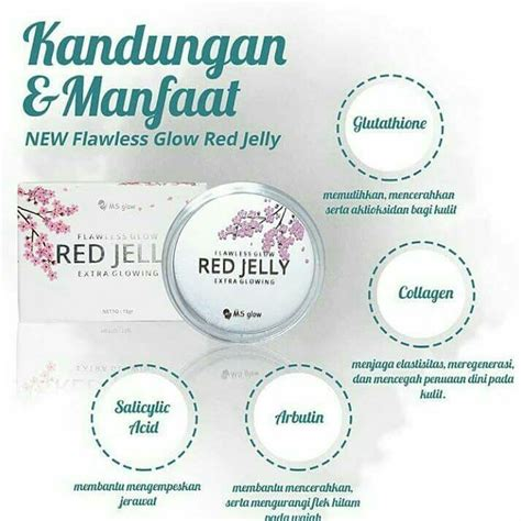 perbedaan red jelly  radiance gold gel ms glow cantik
