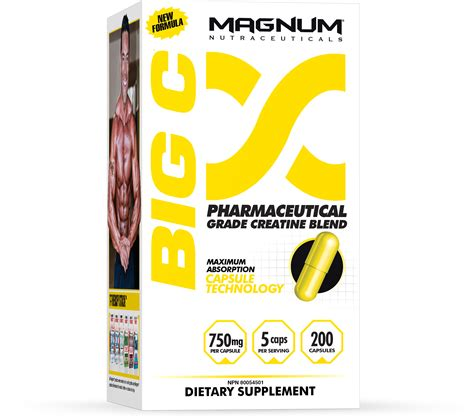 big c creatine pills magnum nutraceuticals supplements better results